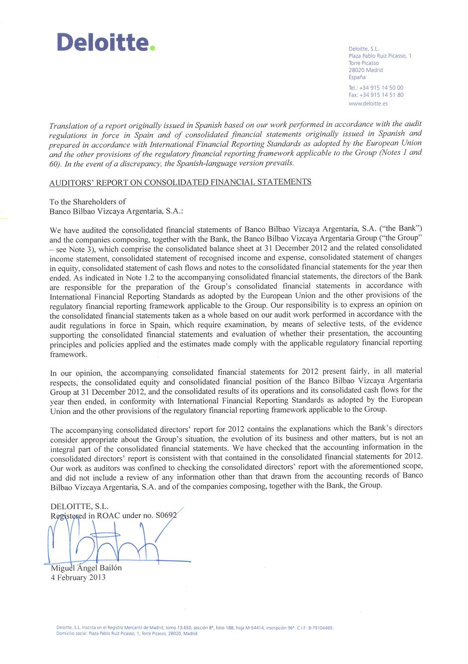 auditors u2019 report